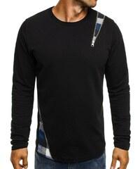 Athletic Tričko s dlouhým rukávem a kostkovaným vzorem ATHLETIC 754 černo-modré