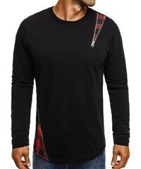 Athletic Tričko s dlouhým rukávem a kostkovaným vzorem ATHLETIC 754 černo-červené