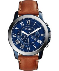 Fossil Montres, Grant Chronograph Brown/Blue en marron, bleu