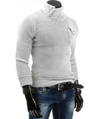 Nádherný bílý svetr s vyšším límcem