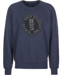 North Sails Crew Neck Print sweat marine blue