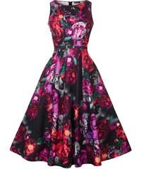 Šaty Lady V London Audrey Indigo Rose -