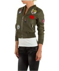 Starmy Koženkový bomber - khaki, Barva Army zelená, Velikost M