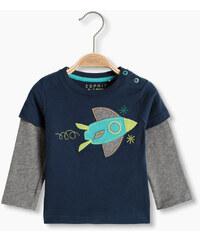 Esprit T-shirt à effet superposé en coton