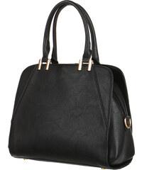 TopMode Elegantní kabelka do ruky se zlatými detaily černá