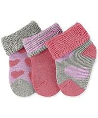 Sterntaler Baby-Mädchen Socken Erstlingssöck.Herzen,3er-Pack, Rosa (Coralle 736), One size (Herstellergröße: 0)