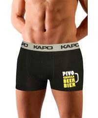 eKAPO Beer KAPO boxerky z bambusových vláken XL šedá