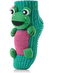 Attractive Pletené ponožky CHAUSSONS CHAUSSETTES 10 KHA FROG GREEN