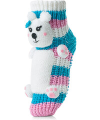 Attractive Pletené ponožky CHAUSSONS CHAUSSETTES 26 WHA DOG 2 BLUE