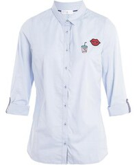 Chemise cintrée patchs colorés Bleu Coton - Femme Taille 1 - Cache Cache