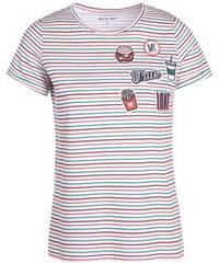 T-shirt rayures patchs multicolores Beige Coton - Femme Taille 0 - Cache Cache