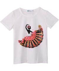 Lesara Kinder-T-Shirt mit Tänzerin-Print - 74
