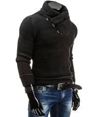 Teplý černý pánský svetr s rolákem