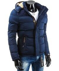 Senzační pánská zimní bunda v tmavě modré barvě