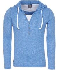 Pánské modré tričko CARISMA s kapucí