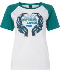 Pinko T-Shirt mit eingestickter Message