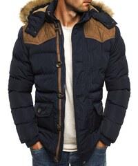J. Style Krásná kvalitní zimní bunda s kapucí a kožešinou J.STYLE 3079