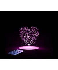 Aloka Noční světýlko Srdce + ovladač pro volbu barev