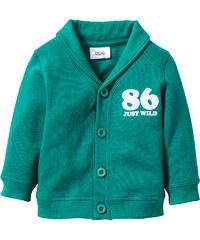 bpc bonprix collection Gilet sweat-shirt bébé en coton bio vert enfant - bonprix