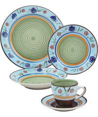 bpc living Service vaisselle Eileen (30 pces.) bleu maison - bonprix