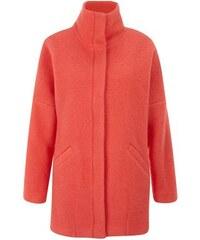 New Look Korallenroter Mantel mit Stehkragen aus Wollmischung