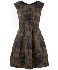 New Look Closet – Khakifarbenes Kleid mit Kellerfalten und Tarnmuster