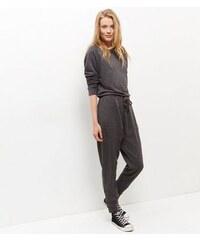 New Look Grauer Jumpsuit aus Sweatshirtmaterial