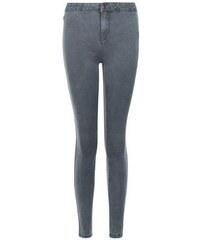 New Look Graue, superenge Skinny-Jeans mit hohem Bund