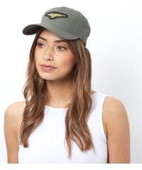 New Look Kappe mit Militärabzeichen in Khaki