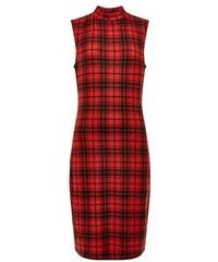 New Look Figurbetontes Kleid mit rotem Karomuster für Teenager