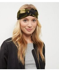 New Look Haarband im Turbandesign mit olivgrünem Camouflage-Muster