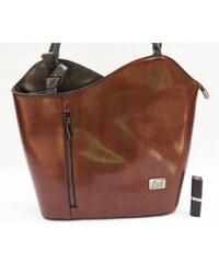 Stylová dámská kabelka, Barva Hnědá Wild by loranzo 878-bb1