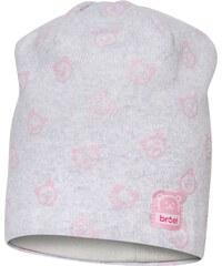 Broel Dívčí čepice s medvídky - světle šedá