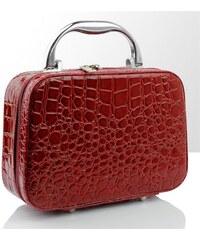 BMD kosmetický kufřík malý červený krokodýl