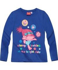 Trolls Langarmshirt blau in Größe 104 für Mädchen aus 100% Baumwolle