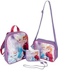 Disney Die Eiskönigin Kinder Taschen Set, 3-teilig bestehend aus: Rucksack, Tasche, Brustbeutel + Gratis Schlüsselanhänger lila in Größe UNI für Mädchen aus 100 % Polyester