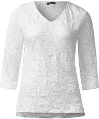 Street One - T-shirt froissé Heide - blanc