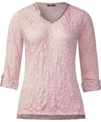 Street One - T-shirt froissé Heide - tender rose