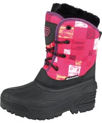 ALPINE PRO Dívčí zimní obuv Pingora - růžovo-černé