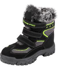 ALPINE PRO Dětská zimní obuv Flea - žluto-černé