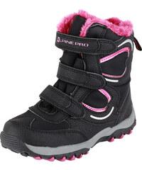 ALPINE PRO Dívčí zimní obuv Lilian - růžovo-černá