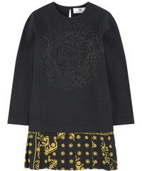 Young Versace Sweatshirt-Kleid aus Bi-Material