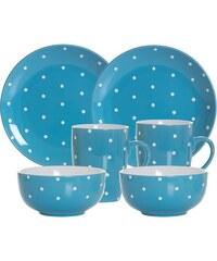 RITZENHOFF & BREKER Frühstück-Set Keramik 6 Teile PINTO blau