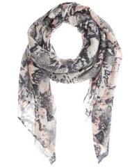CODELLO Damen Tuch mit All-Over Schlangen-Muster schwarz