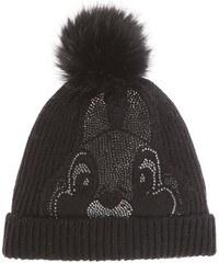 CODELLO Damen Strick-Mütze mit Disney-Motiv aus Strass schwarz