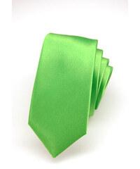 Avantgard Světle zelená luxusní SLIM kravata bez vzoru _