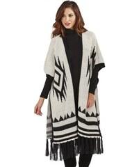 Anglie Dámský elegantní dlouhý pletený svetr pončo 494a58d0fe
