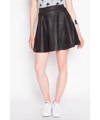Jupe simili-cuir uni Noir Polyester - Femme Taille 36 - Cache Cache