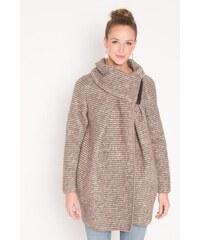 Manteau lainage fantaisie léger Beige Laine - Femme Taille 1 - Cache Cache