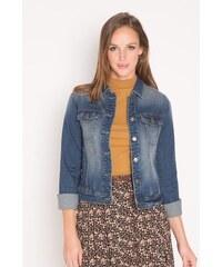 Veste en jean boutonnée Bleu Elasthanne - Femme Taille 0 - Cache Cache